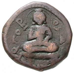 coin with Buddha