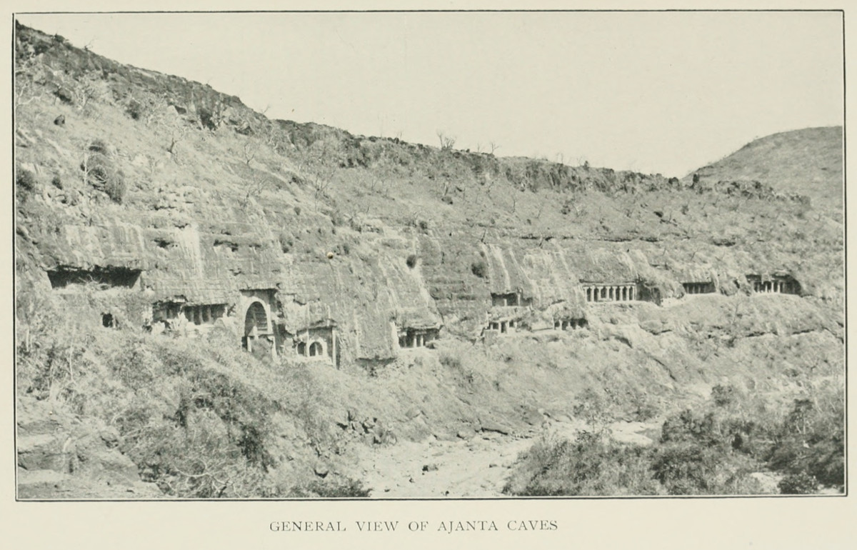 General View of Ajanta Caves
