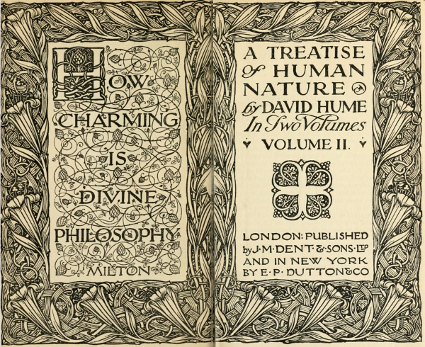 Hume Treatise Title Page