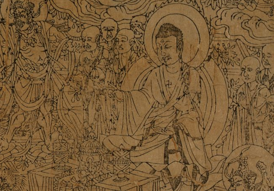 The Diamond Sutra illustration