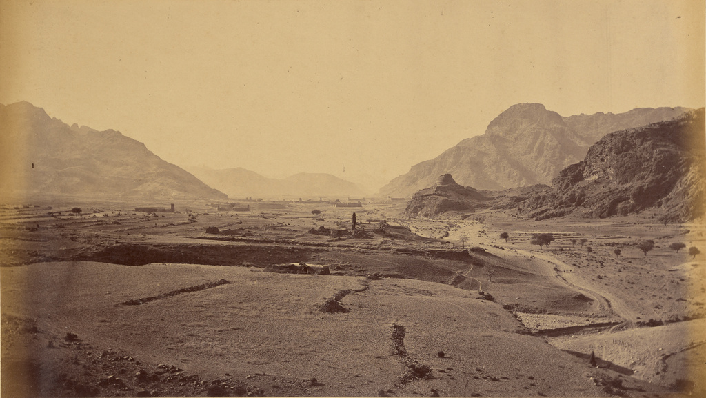 General View Ispola and Sultan Kheyl Villages, showing Buddhist Tope, 1878 - 1879