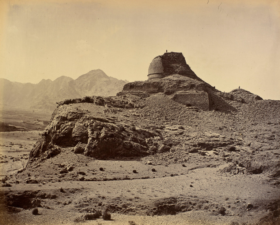 Buddhist monument Sphola Stupa in the Khyber Pass  1878-9