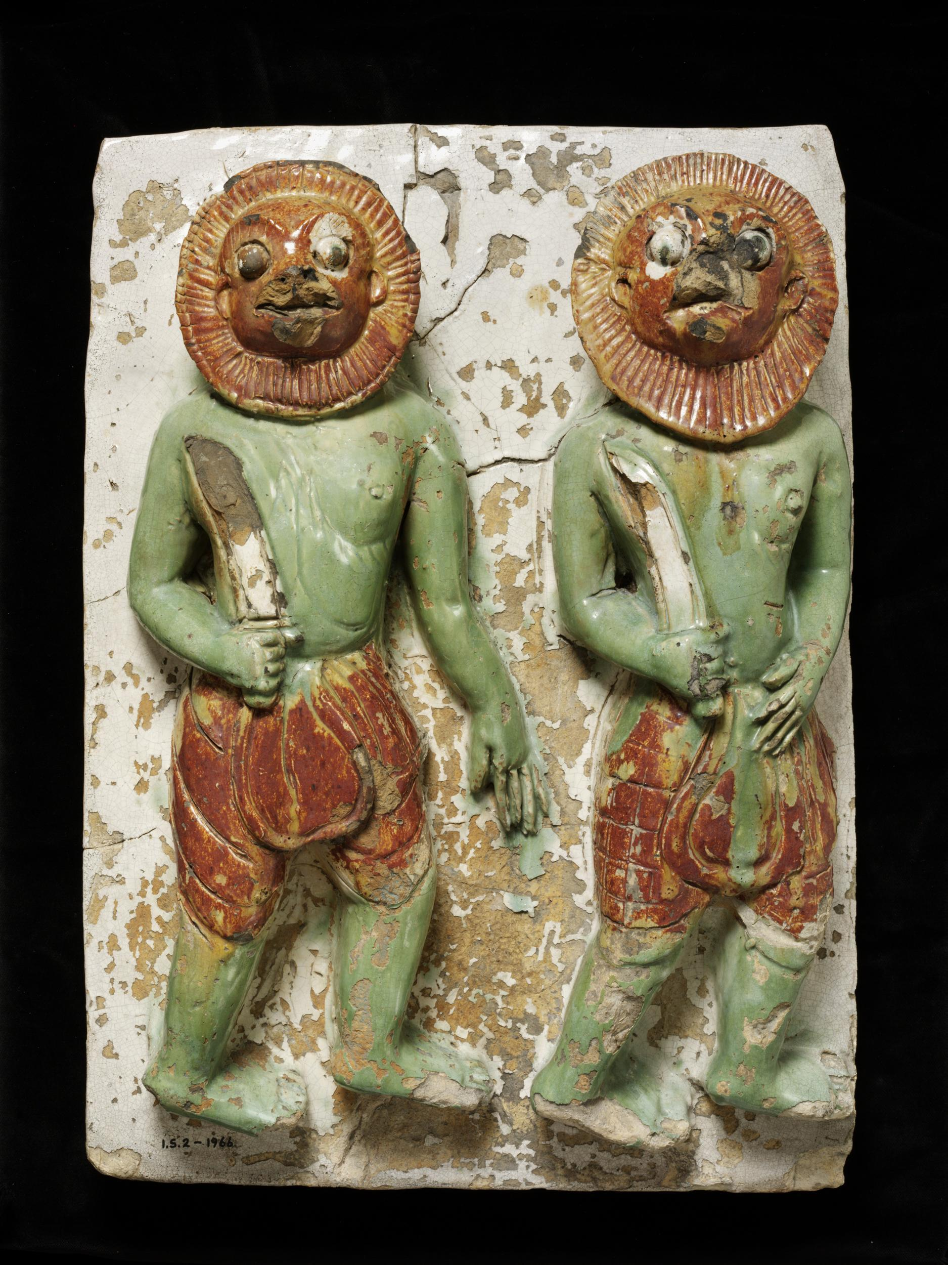 Tile depicting the warriors of Mara.