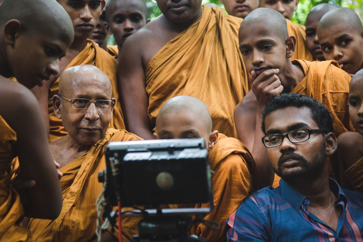 Monks making film